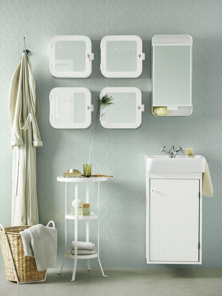 GUNNERN tafeltje | #IKEA #IKEAnl #inspiratie #badkamer #opruimen #wit #groen #mint