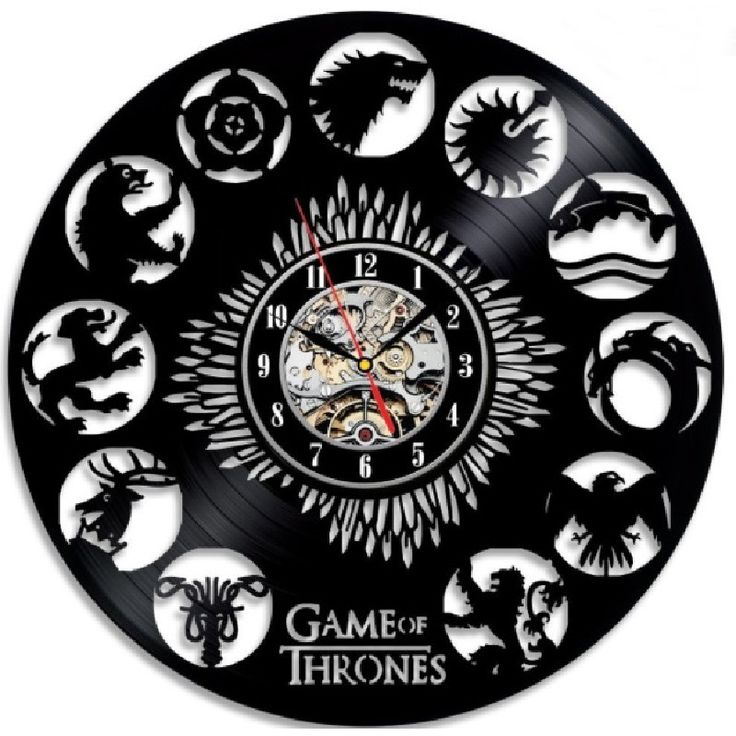 Game of Thrones 3D Record Wall Clock //Price: $37.49 & FREE Shipping //     #stark #aryastark