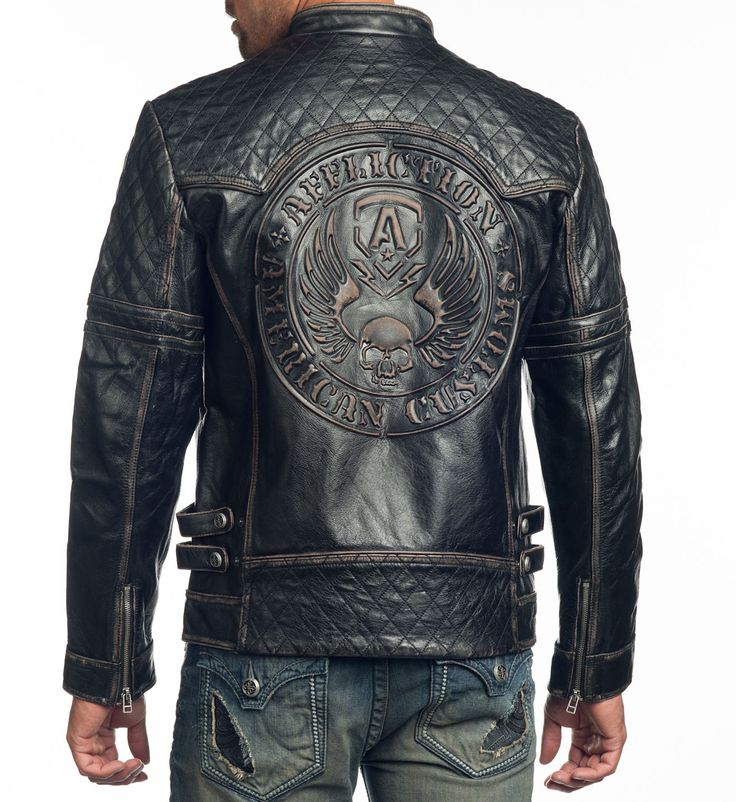 Affliction Clothing. Breaking Free Leather Jacket. #Affliction #Leather #Live