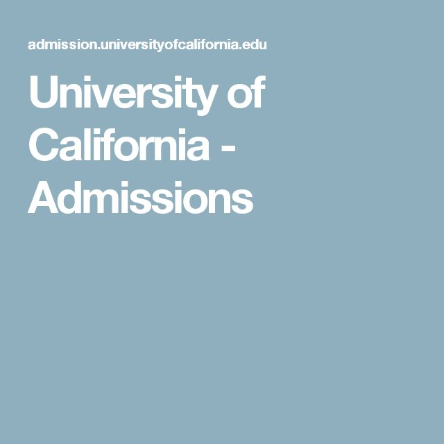 University of California - Homeschool Admissions. Homeschoolers can be admitted to UC schools. Carefully planning to meet a-g requirements helps.