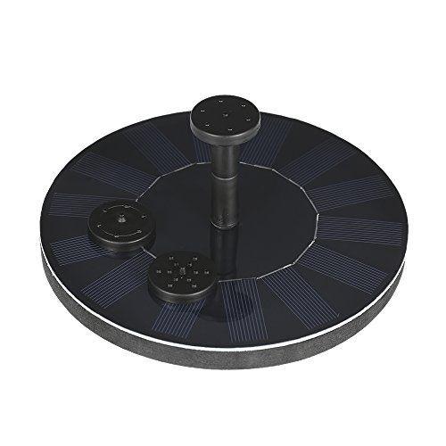 Anself pompe solaire Pompe à eau solaire Panneau solaire fontaine pour bassin ou jardin pome avec panneau solaire monocristallin et pompe…
