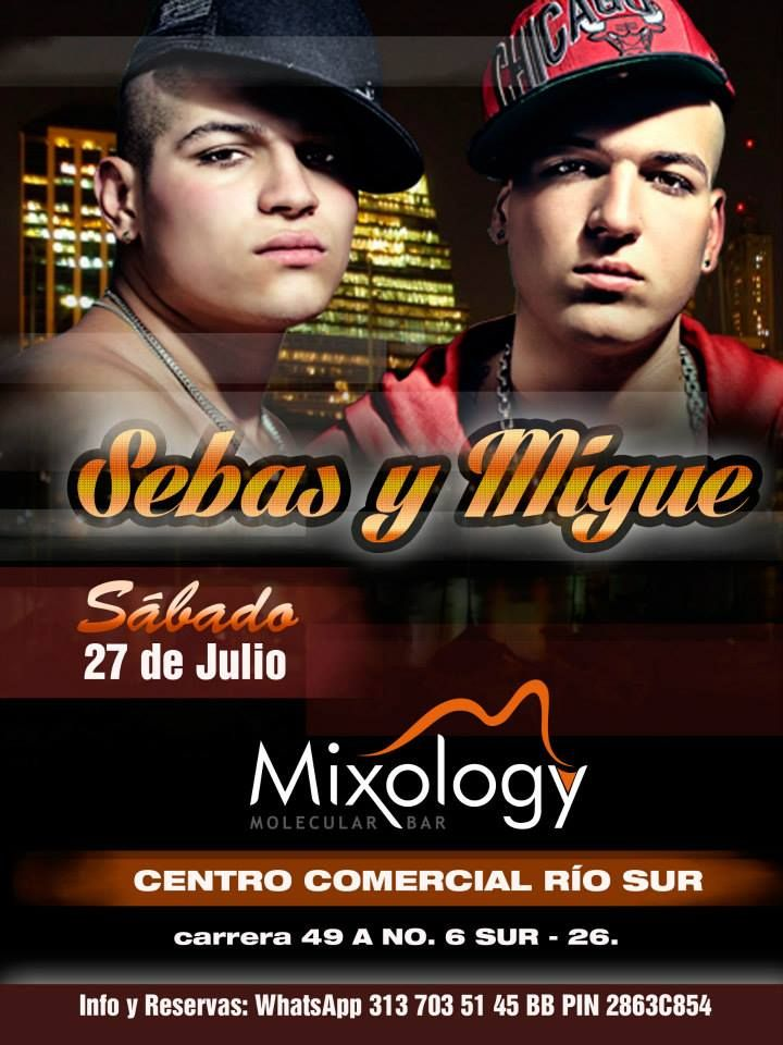 Evento musical. Cliente: Mixology - molecular bar. medellín - 2013. *Photoshop.