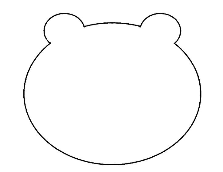 300 Crafts for Kids: Fuzzy Polar Bear Template