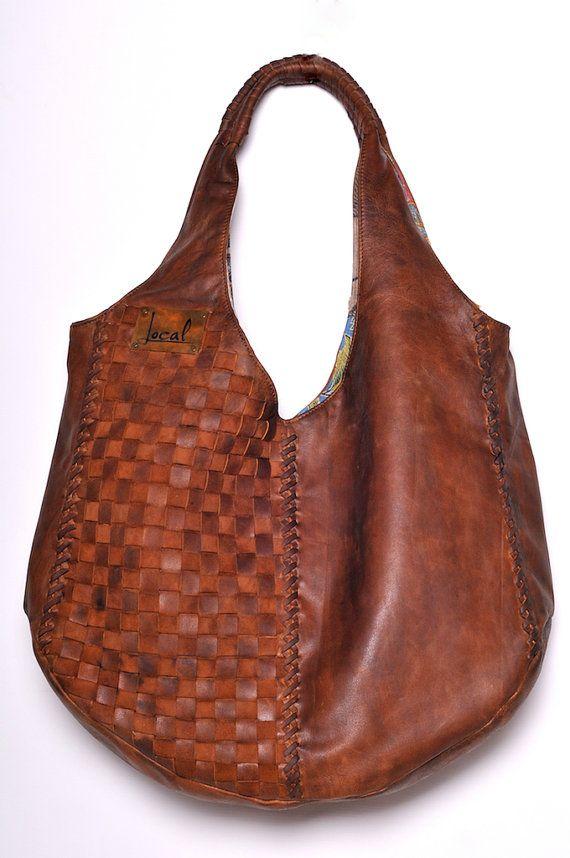 fec45641ea Brown leather hobo bag   leather tote bag .