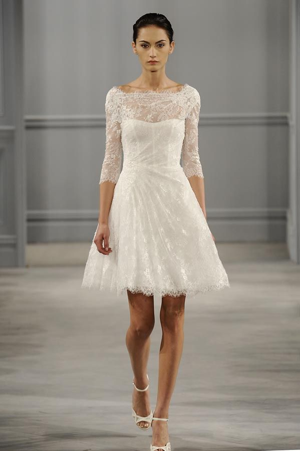 Vestido de novia corto para boda civil.
