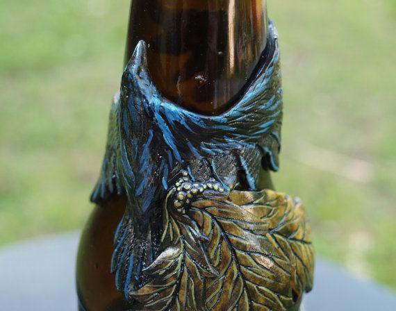 Florero reciclado botella de arcilla de por MichellePetersenArt