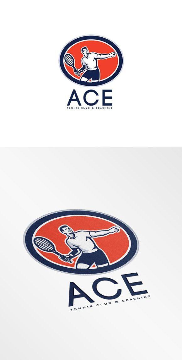 Ace Tennis Club And Coaching Logo Coaching Logo Logo Design Template Tennis Clubs