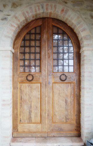 Riproduzione di un portone antico del '700 realizzato in quercia antica di patina