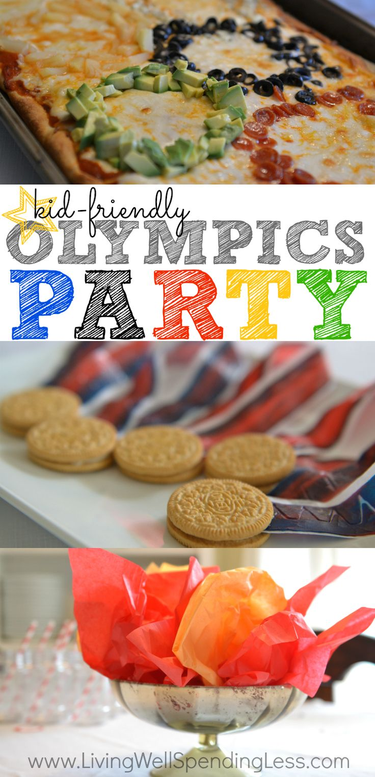 Are you ready for the next Olympics?  Don't miss these awesome ideas for a simple Olympics party, including super easy decorations and kid-friendly food such as Olympic ring pizza, Oreo medals, and torches made from Cheetos.  A great way to get your kids into the spirit of the games!