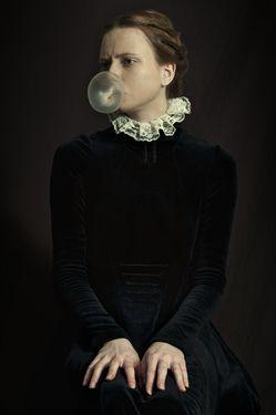 """Classic Bubble Gum"" original portrait photograph by artist Romina Ressia available at Saatchi Art. #SaatchiArt"