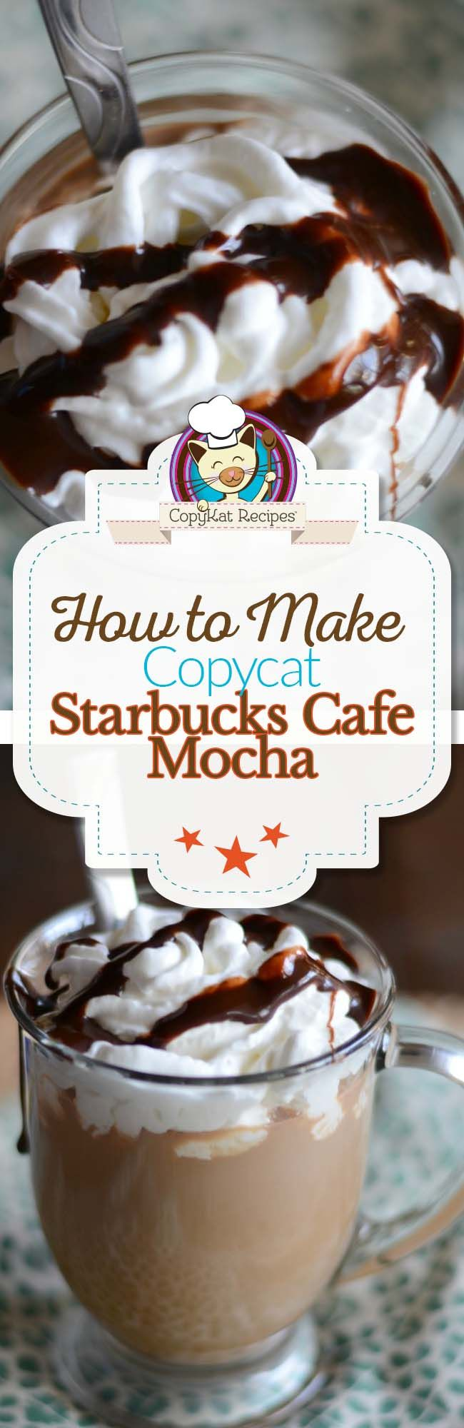 Make your own delicious Starbucks Cafe Mocha at home with this easy copycat recipe.