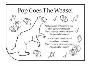 Pop Goes the Weasel nursery rhyme lyrics. Find lots more at iChild.co.uk