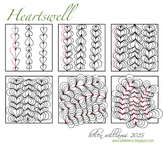 a little lime: Heartswell Tangle PATTERN