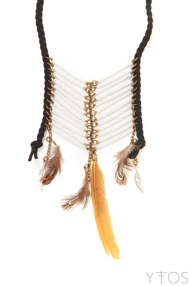 'Magic Arrow' Black & White Necklace