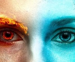 I see through the eyes of both fire and ice. When my fire rages the ice is there to cool me and when I grow to cold to fire is there to melt it. ~Frigga
