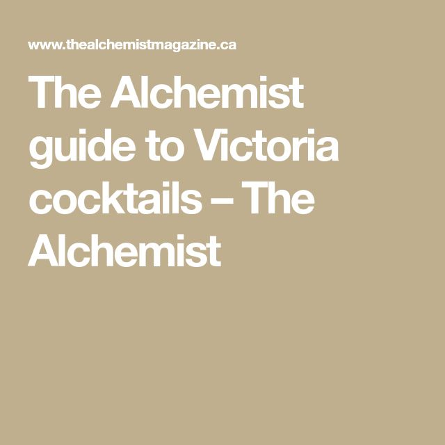The Alchemist guide to Victoria cocktails – The Alchemist