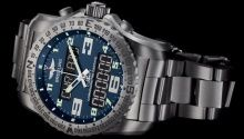 Hands-on look and video of the Breitling Emergency II watch with dual frequency emergency rescue beacon.