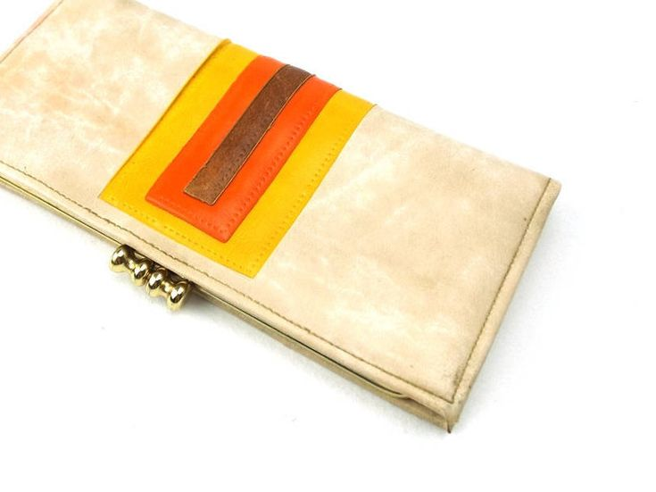 faux leather wallet. vegan wallet. wallet. womens wallet. for women. womens. gift for her. mid century modern. yellow. orange. brown, marble http://etsy.me/2EHr8ku #bagsandpurses #clutch #birthday #christmas #beige #orange #fauxleatherwallet #veganwallet #wallet