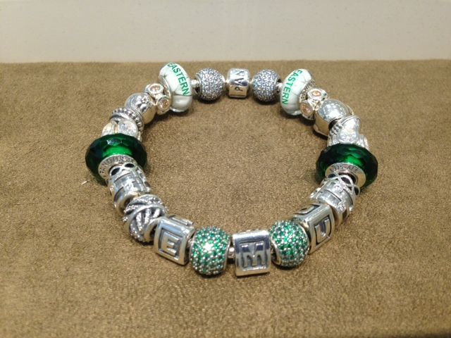 Eastern Michigan inspired bracelet from the Pandora Store at Briarwood Mall!