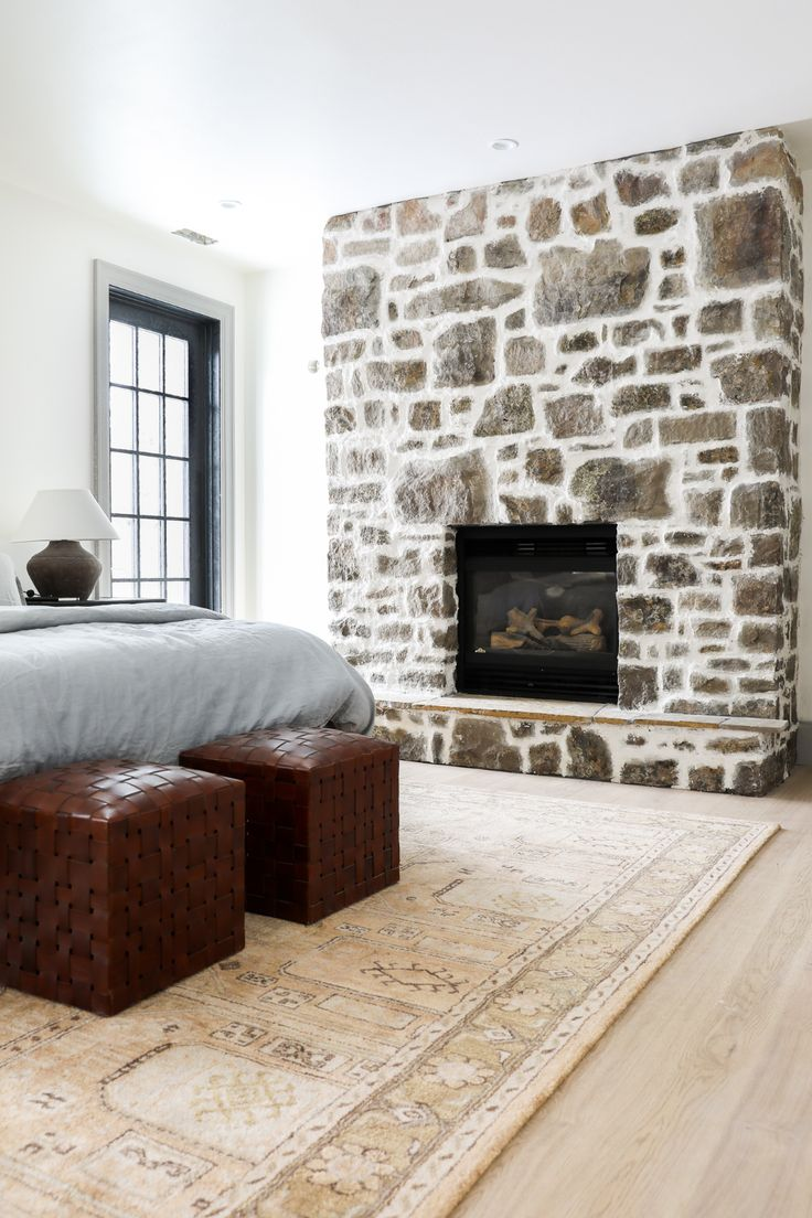 How to DIY OverGrouted Stone Fireplace! (For Under 200