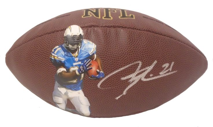 LaDainian Tomlinson Autographed NFL Wilson SD Chargers Photo Football, Proof. LaDainian Tomlinson Signed NFL Photo Football, San Diego Chargers, TCU Horned Frogs, Proof  This is a brand-new custom LaDainian Tomlinson autographed NFL Wilson composite photo football.  LaDainian signed the football in silver paint pen. Check out the photo of LaDainian signing for us. ** Proof photo is included for free with purchase. Please click on images to enlarge. Please browse our website for additional…