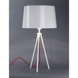 Lampe a poser Tropic lt design blanc