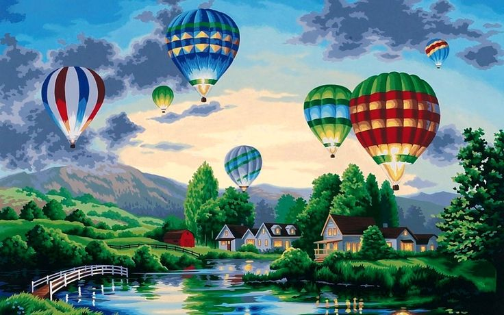 sky hot air balloon wallpaper