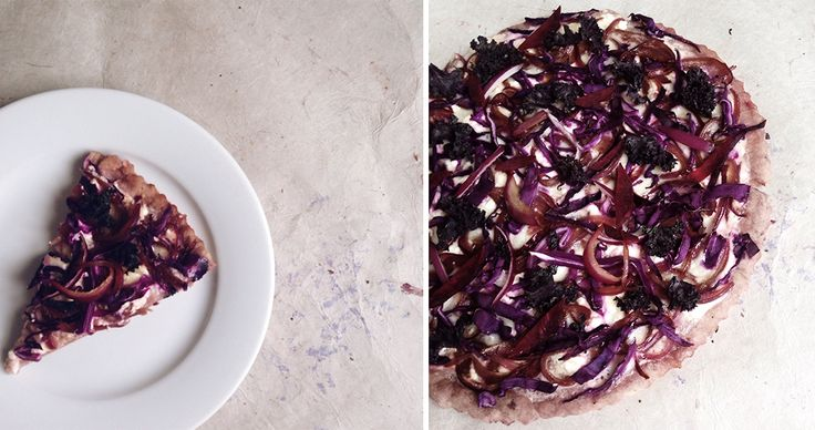 It's all about thinking outside the takeout pizza box! In order about how to create the perfect HBFIT pizza, I thought about color as a major component. My mind immediately went to purple–a color key…