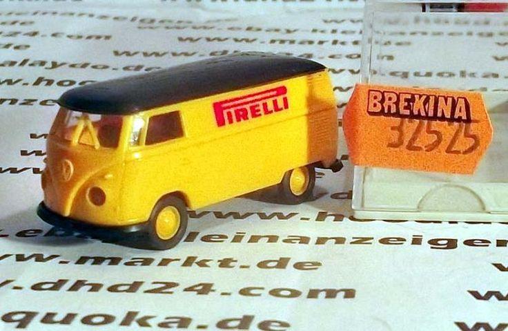 """Brekina 32525 VW T1 Kasten """"Pirelli Reifen"""" Bestzustand siehe Video"""