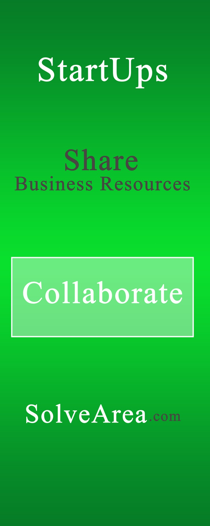 Collaborate with StartUps and Share Business Resources on SolveArea.com