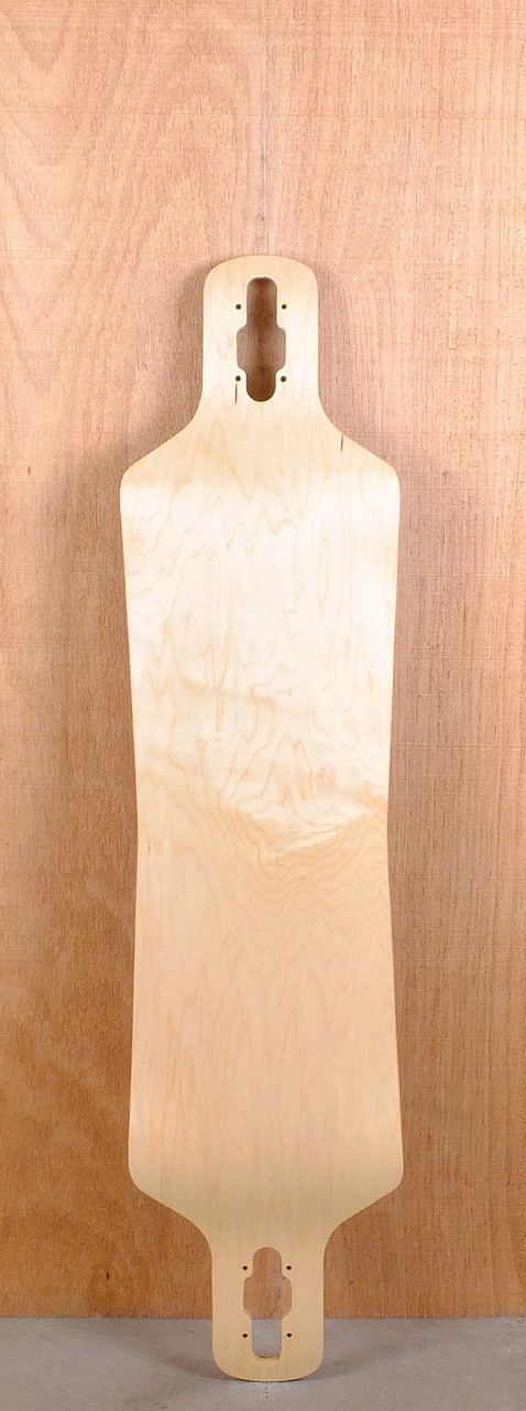 "Blank 40"" Drop Through Drop Down Hourglass Longboard Bottom"