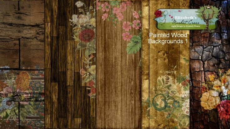 Painted Wood Backgrounds 1