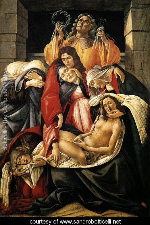Lamentation over the Dead Christ c. 1495 - Sandro Botticelli (Alessandro Filipepi)