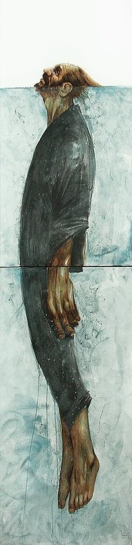 Sometimes it takes all ones energy just to keep ones head above water  Drawing by Bayo a.k.a. Eduardo Flores