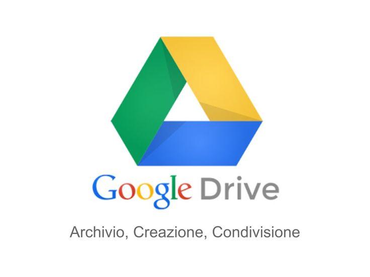 Google Drive - Archivio, Creazione, Condivisione