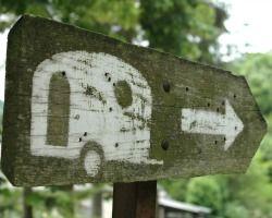 Señal de camping de caravanas