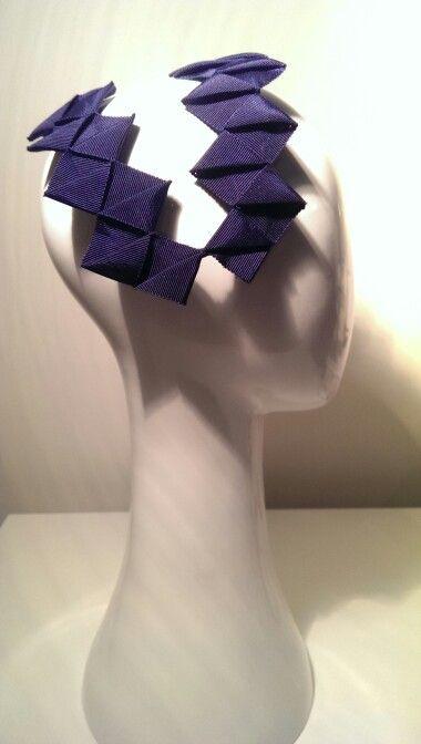 Diamond Ribbon - Navy - by Lauren J Ritchie