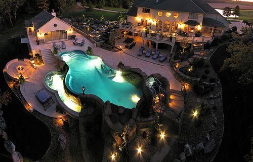 : Dream Backyard, Pools Landscape, Dream Pools, Dream Homes, Favorite Place, Dream House, Future House, Awesome Pools, Amazing House