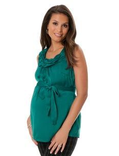 Motherhood Maternity Sleeveless Sash Belt Maternity Blouse