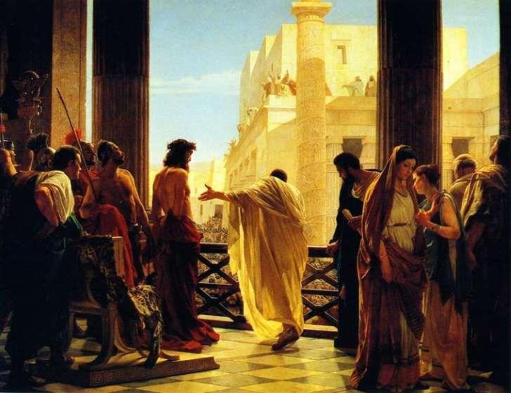 Ecce Homo, Antonio Ciseri: Poncjusz Piłat przedstawiający ubiczowanego Jezusa z Nazaretu mieszkańcom Jerozolimy