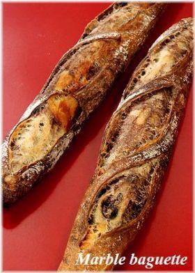「マーブルバゲット」いたるんるん   お菓子・パンのレシピや作り方【corecle*コレクル】