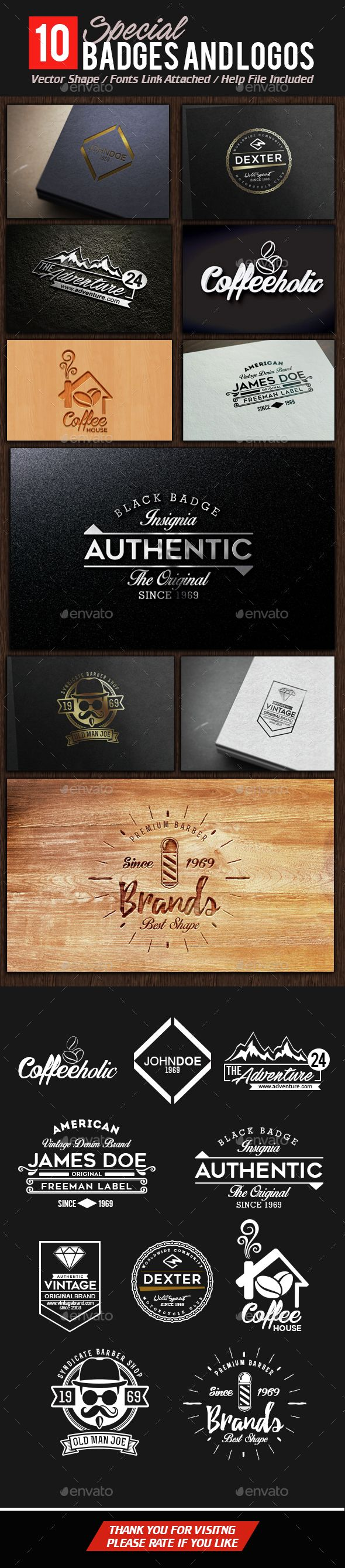 Badges and Logos Template PSD. Download here: http://graphicriver.net/item/badges-and-logos/14721043?ref=ksioks
