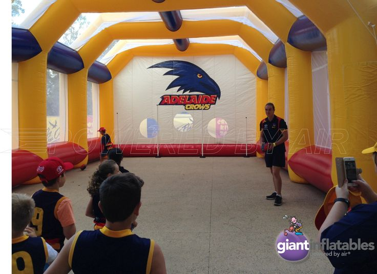 inflatable balls games enclosure for adelaide crows AFL football
