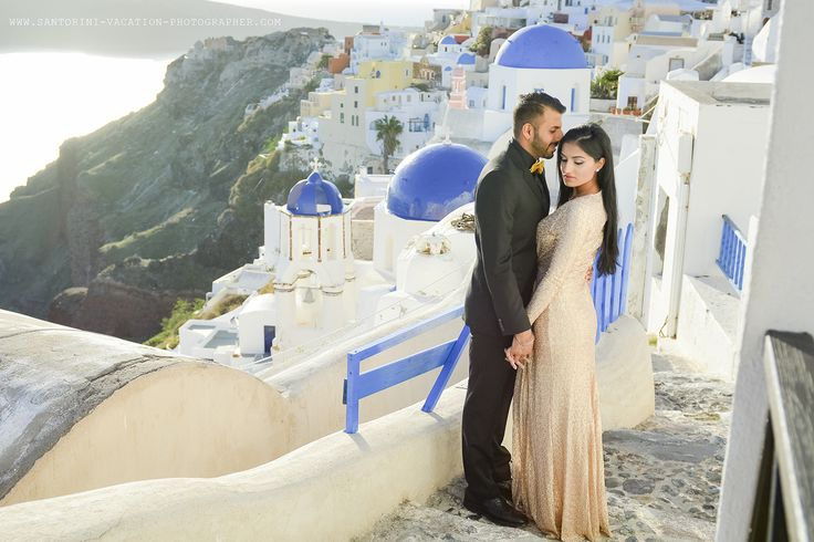 Surprise proposal in Santorini. #Greece #Proposal #Santorini #Engagement #Photoshoot #Couple #winter #blue #church #oia #romantic #vacation