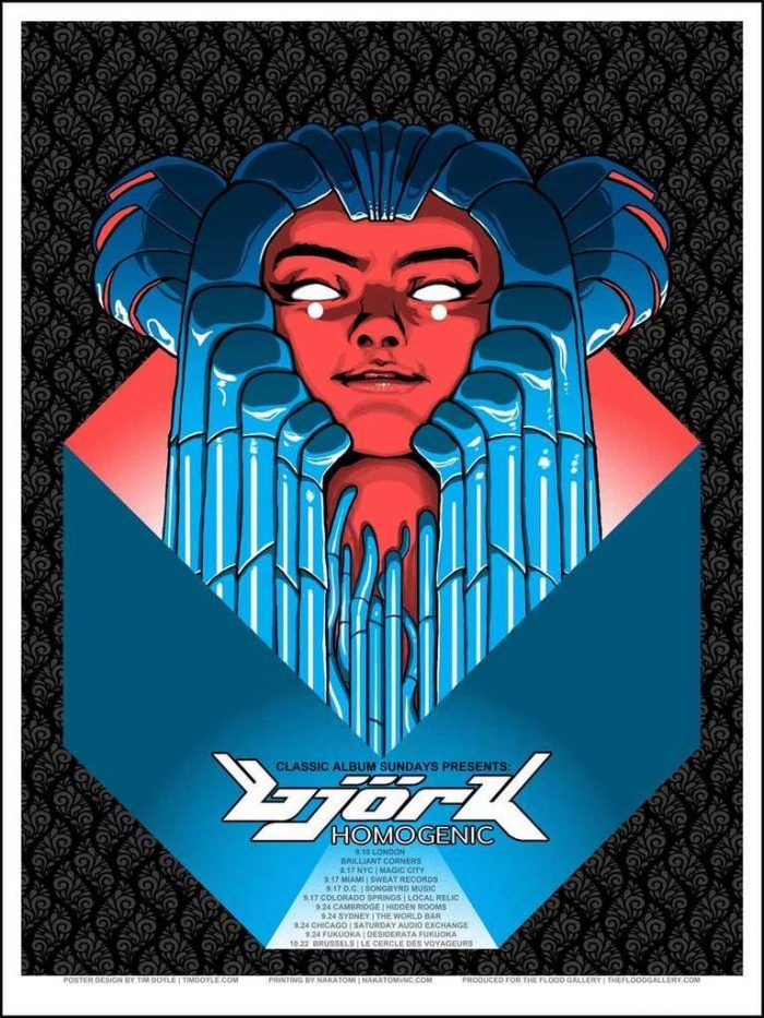 http://classicalbumsundays.com/category/events/ #Classicalbumsundays #Poster #Clasicalbumtourposter #Classicalbum #Music #Colleenmurphy #Bjork #Homogenic