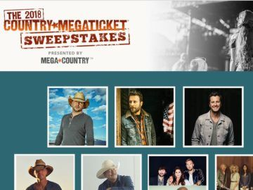 Live Nation Country Megaticket 2018 Sweepstakes