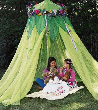 Fairy Garden Accessories | Fairy Garden Theme Rooms for Little Girls - Bed Canopy, Tent, Curtains