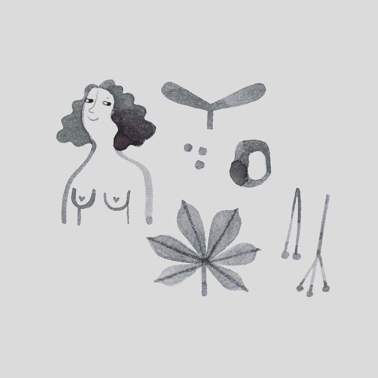Herbst ist in town. #illustration #womanpower #autumisokay #illustrationoninstagram #womanillustration #mitliebegemacht