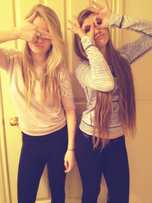 Taking weird pictures with your best friend.