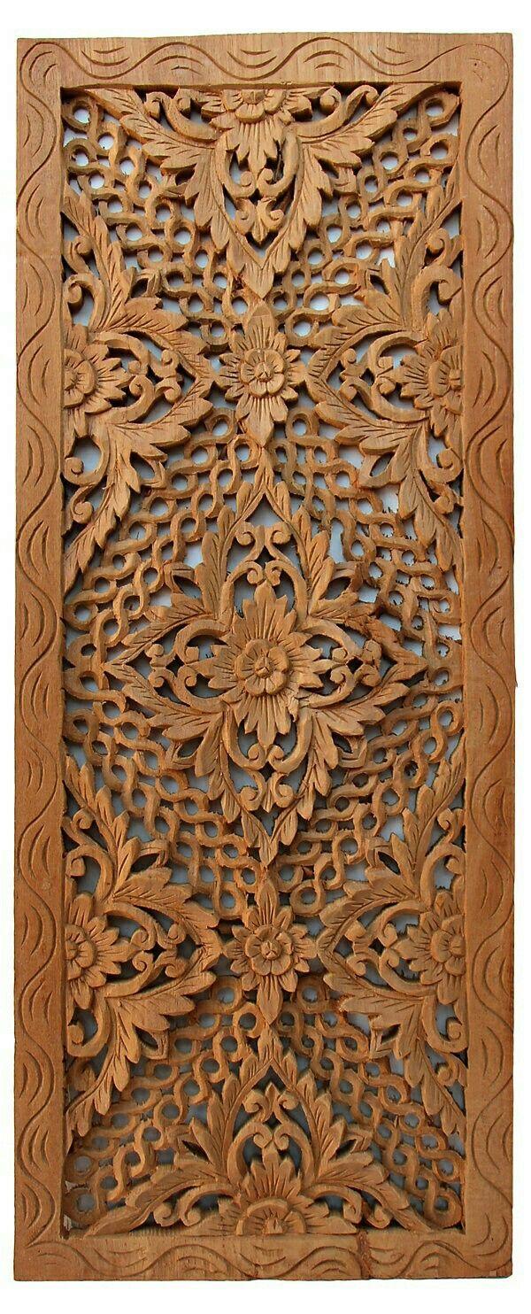 door carving flower design  | 736 x 1643